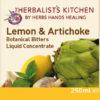 Lemon & Artichoke Concentrate label